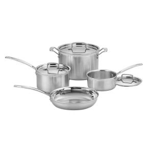 Click here to buy Cuisinart MultiClad Pro 7-Piece Stainless Cookware Set with Lids by Cuisinart.