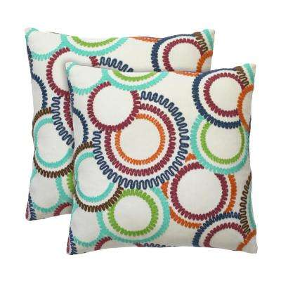 Jude 18 in. x 18 in. Carnival Decorative Pillow (2-Pack)