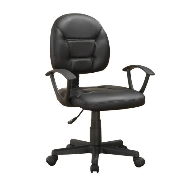 Adjustable Height Black Office Chair