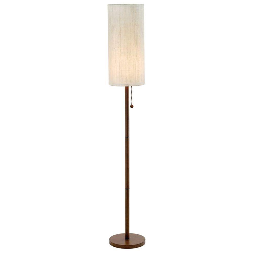 Adesso Hamptons 65 in. Walnut Floor Lamp