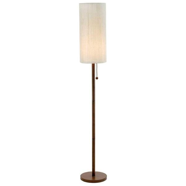 Adesso Gyoza 67 In Walnut Floor Lamp 4099 15 The Home Depot