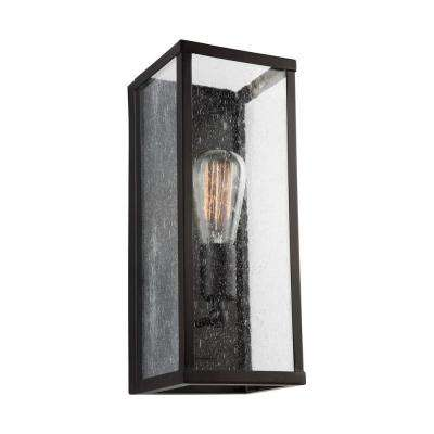 Harrow 5.5 in. Oil Rubbed Bronze Sconce with Clear Seeded Glass