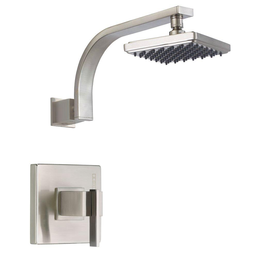 Danze Sirius 1-Handle Pressure Balance Shower Only Trim Only in Brushed Nickel (Valve not included)-DISCONTINUED