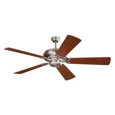 Grand Prix 60 in. Indoor Brushed Steel Ceiling Fan