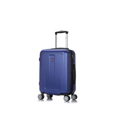 Crypto 20 in. Blue Lightweight Hardside Spinner Carry-on