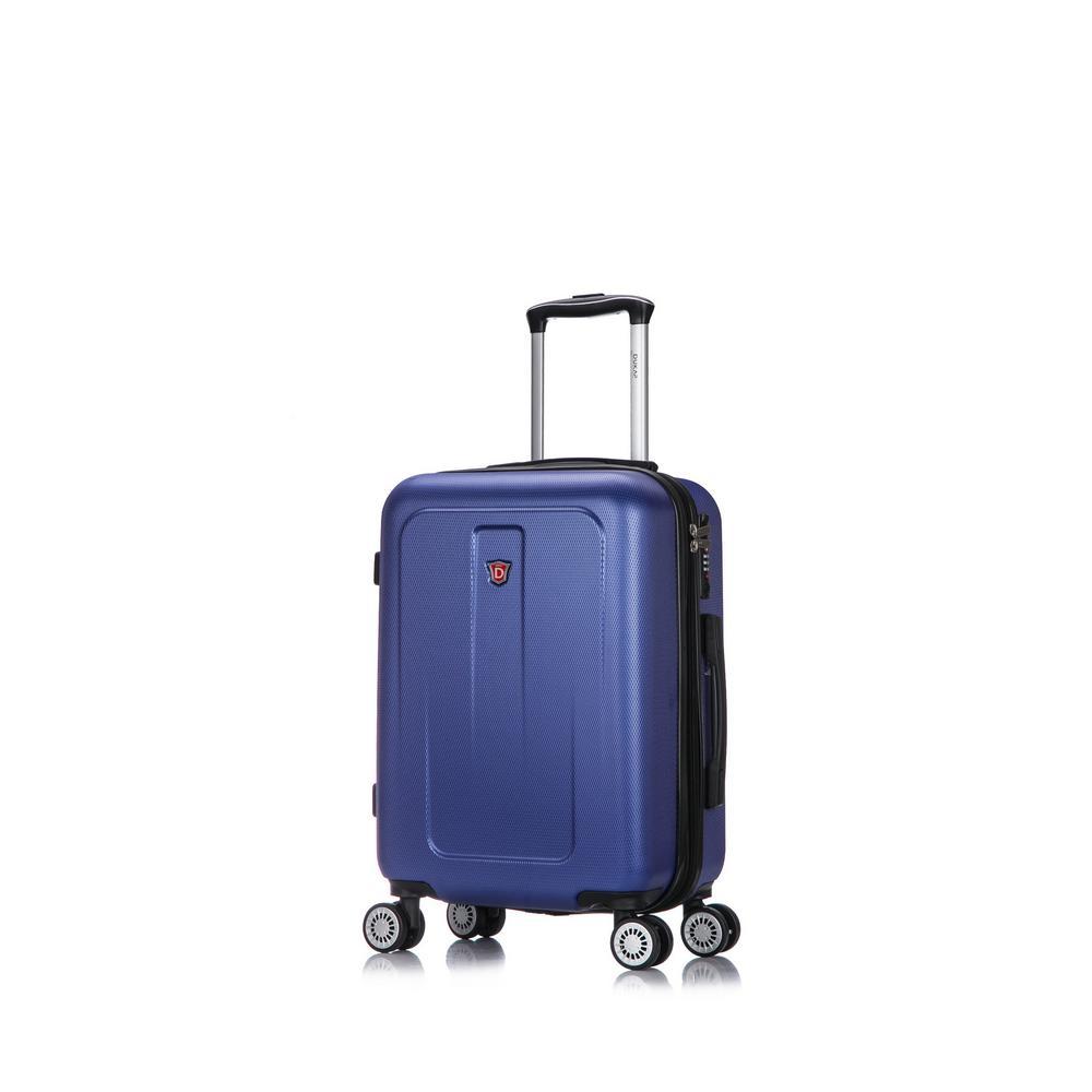 13082380d306 DUKAP Crypto 20 in. Blue Lightweight Hardside Spinner Carry-on ...