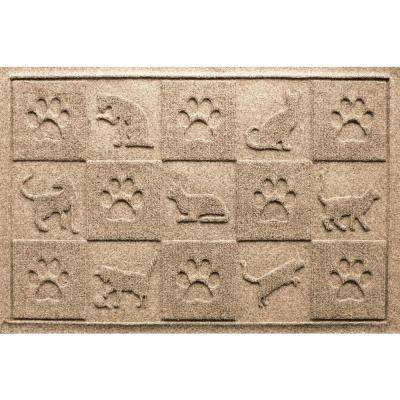 Aqua Shield Khaki 24 in. x 36 in. Cat in the Mat Pet Mat