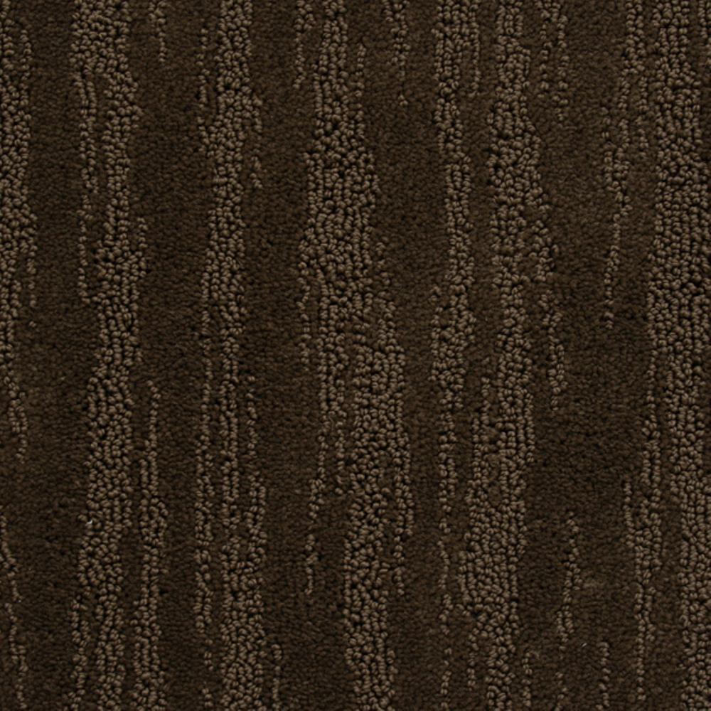 Carpet Sample - Mountain Top - Color Cafe Noir Loop 8 in. x 8 in.