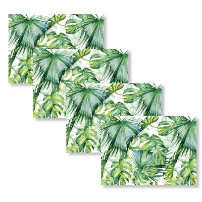 Tropical Palms 18 in. W x 13 in. L Polypropylene 4-pack Placemat Set