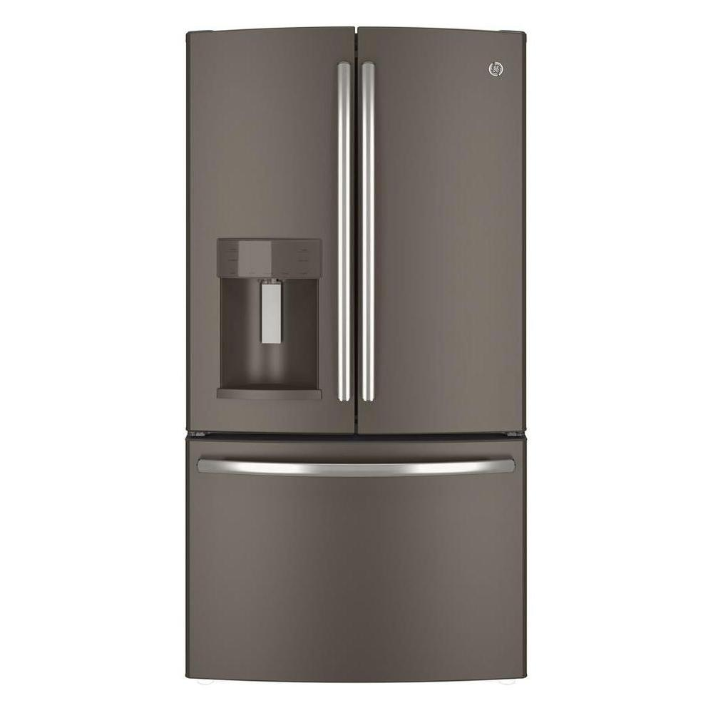 36 in. W 25.8 cu. ft. French Door Refrigerator in Slate,