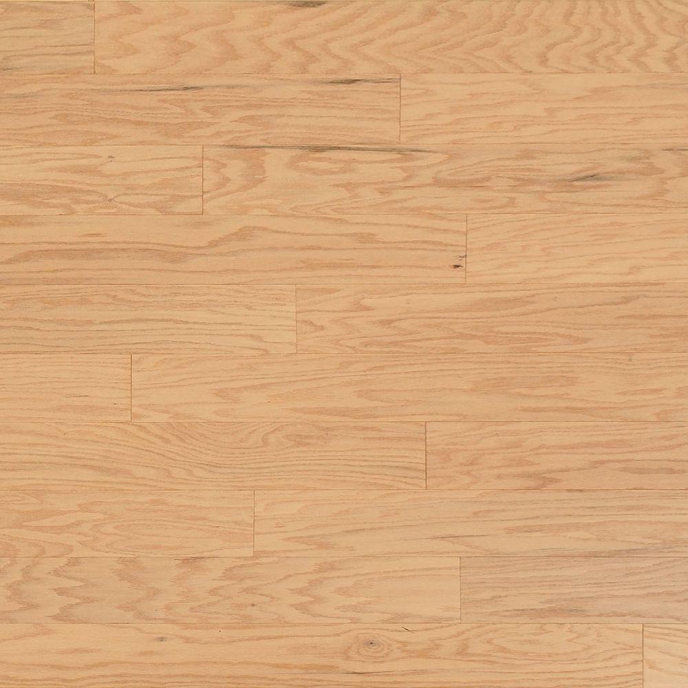 Take Home Sample - Scraped Oak Alabaster Engineered Click Hardwood Flooring - 5 in. x 7 in.