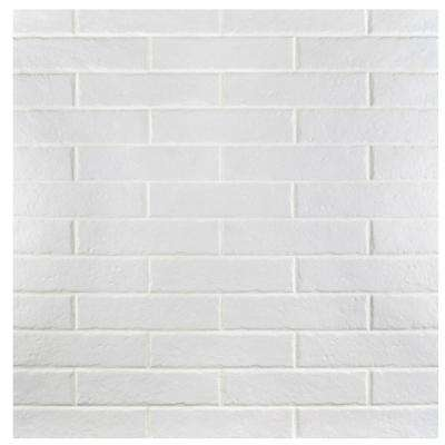 Brooklin Brick White 2-3/8 in. x 9-1/2 in. Porcelain Floor and Wall Tile (6.04 sq. ft. / case)