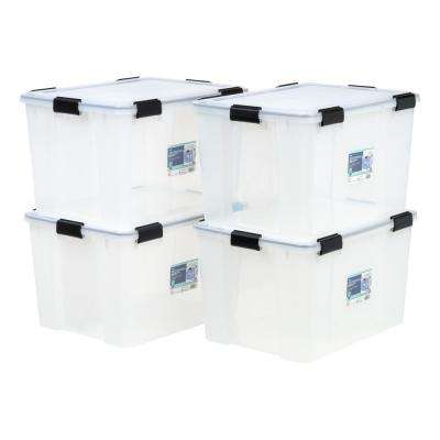 74-Qt. Weathertight Storage Box in Clear (4-Pack)
