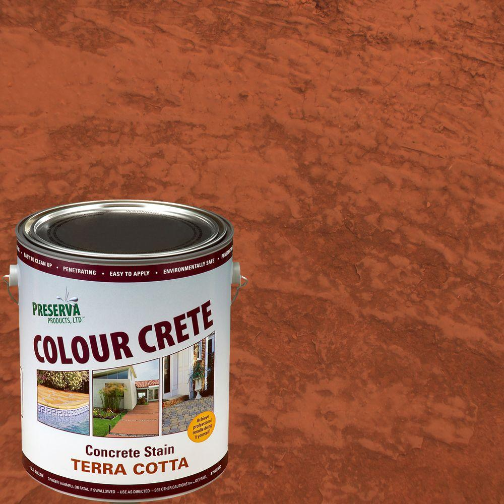 Colour Crete 1 Gal. Terra-Cotta Semi-Transparent Water-Based Exterior Concrete Stain