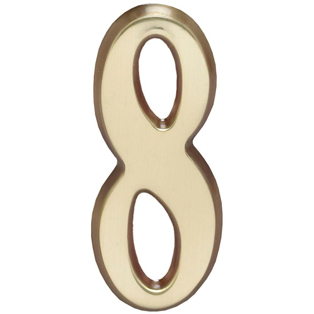 Whitehall Products 4 in. Satin Brass Number 8