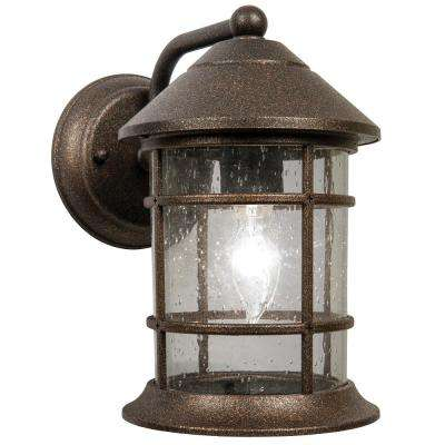 Sunset 1-Light Bronze Outdoor Wall Lantern