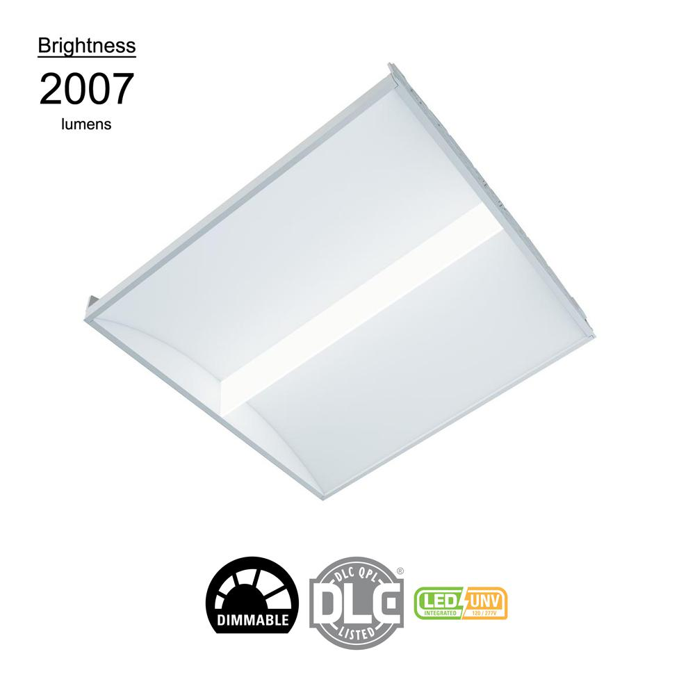 2 ft x 2 ft White Integrated LED Architectural Drop Ceiling