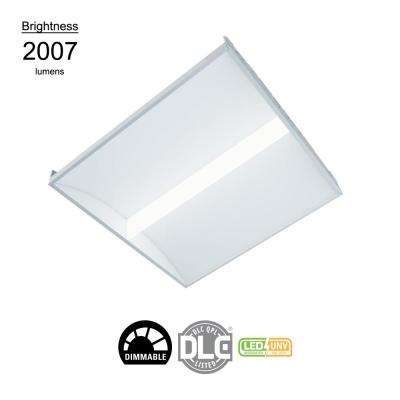 2 ft x 2 ft White Integrated LED Architectural Drop Ceiling Troffer Light with 2007 Lumens, 3500K