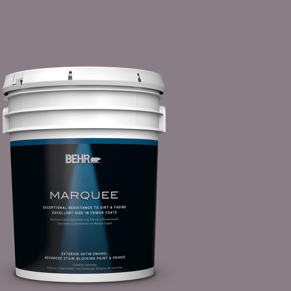 BEHR MARQUEE 5-gal. #N570-4 Classy Plum Satin Enamel Exterior Paint