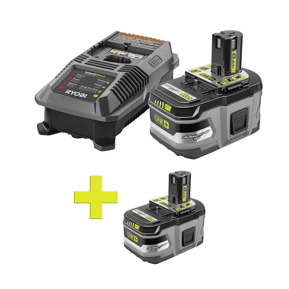 18-Volt ONE+ Lithium-Ion LITHIUM+ HP 6.0 Ah Starter Kit w/ Bonus ONE+ LI-Ion LITHIUM+ HP 6.0 Ah High Capacity Battery