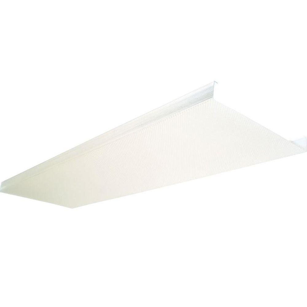 Fluorescent Light Fixture Covers Replacement: Ceiling Light Fixture Diffuser 4 Ft Wide Body Cover