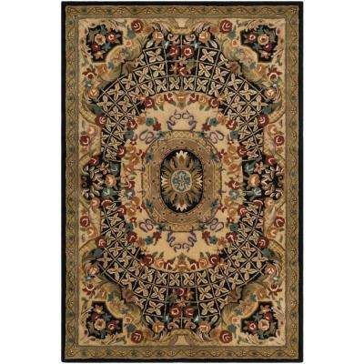 Classic Black/Gold 6 ft. x 9 ft. Area Rug