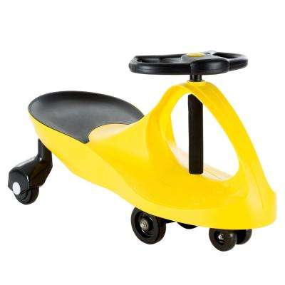 Yellow Zigzag Ride on Car No Batteries