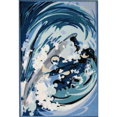 Fun Time Surfin Multi Colored 3 ft. x 5 ft. Area Rug