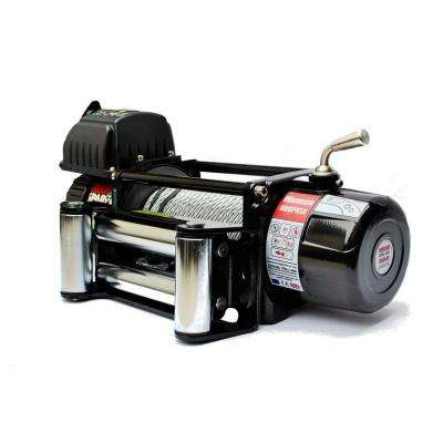 Spartan Series 8,000 lb. Capacity 12-Volt Electric Winch with 85 ft. Steel Cable