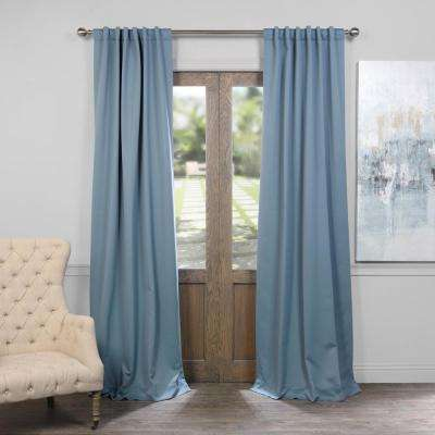 Semi-Opaque Poseidon Blue Blackout Curtain - 50 in. W x 96 in. L (Panel)