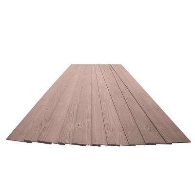 3/16 in. x 5-1/8 in. x 46-1/2 in. Mission Brown Rustic Pine Wood Plank Self-Adhesive (10-Pack)