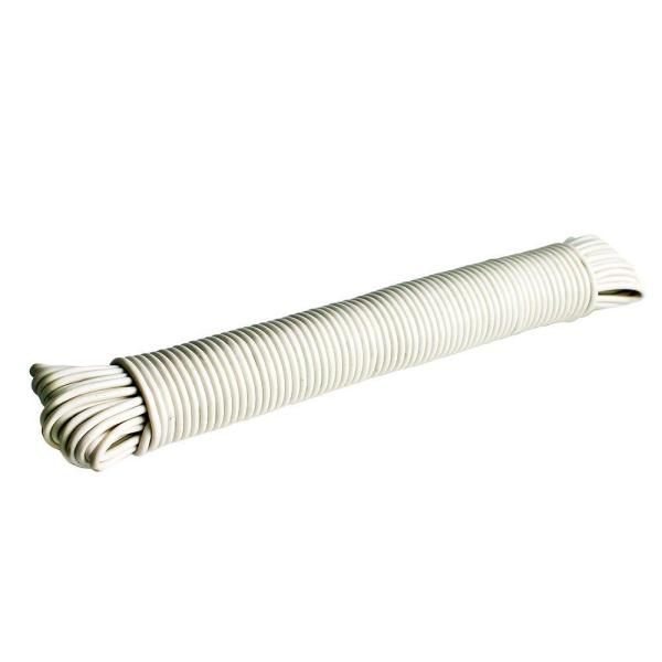 3/16 in. x 100 ft. Plastic Clothesline, White