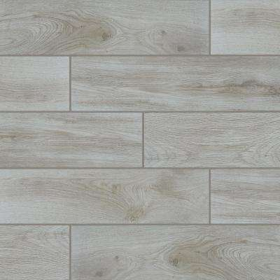 QuicTile 6 in. x 24 in. Perspective Grey Glazed Porcelain Locking Floor Tile (10.2 sq. ft. / case)