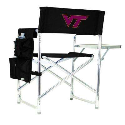 Virginia Tech Black Sports Chair with Embroidered Logo