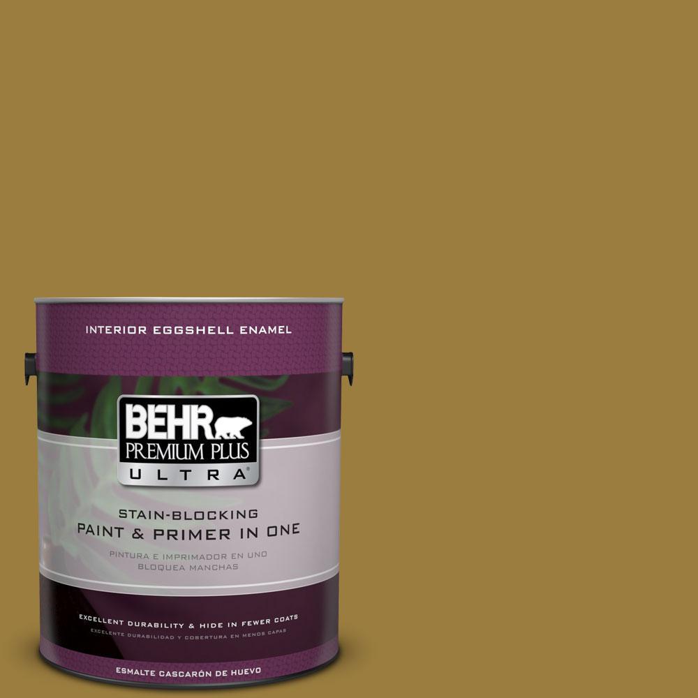 BEHR Premium Plus Ultra 1-gal. #S-H-380 Burnished Bronze Eggshell Enamel Interior Paint