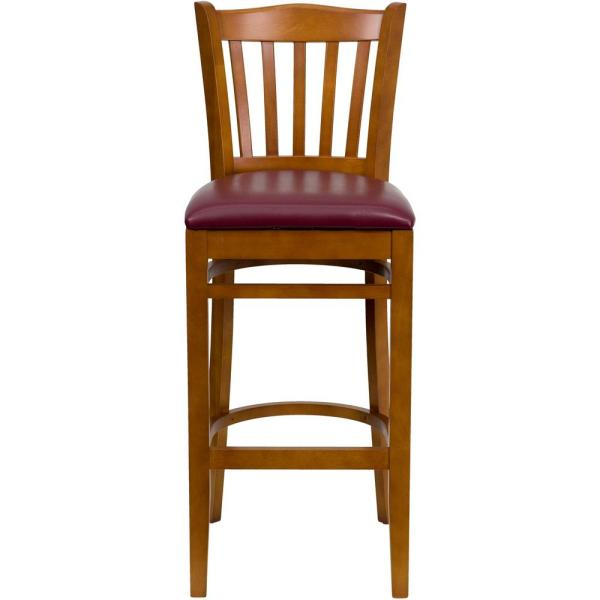 Flash Furniture 31 in. Burgundy and Cherry Cushioned Bar Stool XUW08BARCHYBRV