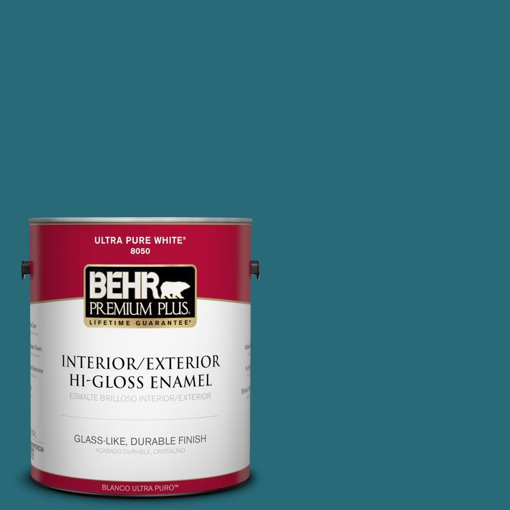 1-gal. #M470-7 Blue Stream Hi-Gloss Enamel Interior/Exterior Paint