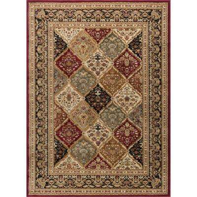 Sensation Red 9 ft. x 12 ft. Traditional Area Rug