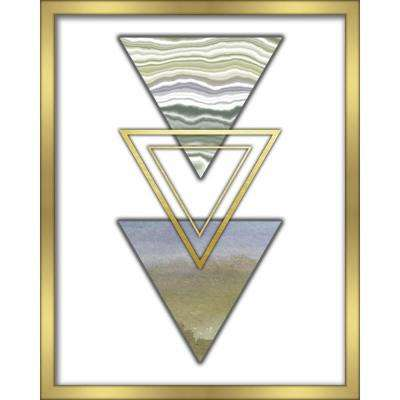 "16 in. x 20 in. ""3 Triangles-Blue"" Shadowbox Wall Art"