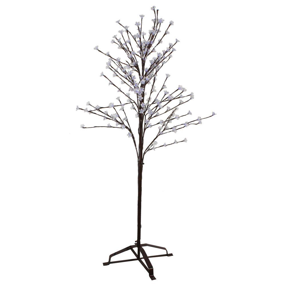 Sterling 6.5 ft. Pre-Lit LED Blossom Artificial Christmas Tree with Cool White Lights