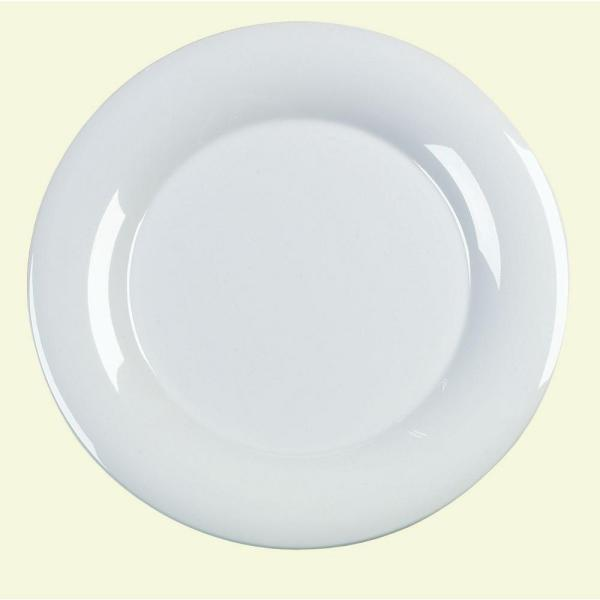 Carlisle 15 in. Diameter Melamine Designer Displayware Serving Plate in White