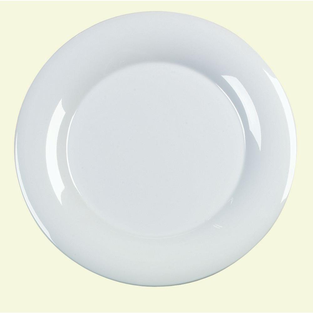 15 in. Diameter Melamine Designer Displayware Serving Plate in White (Case of 4)
