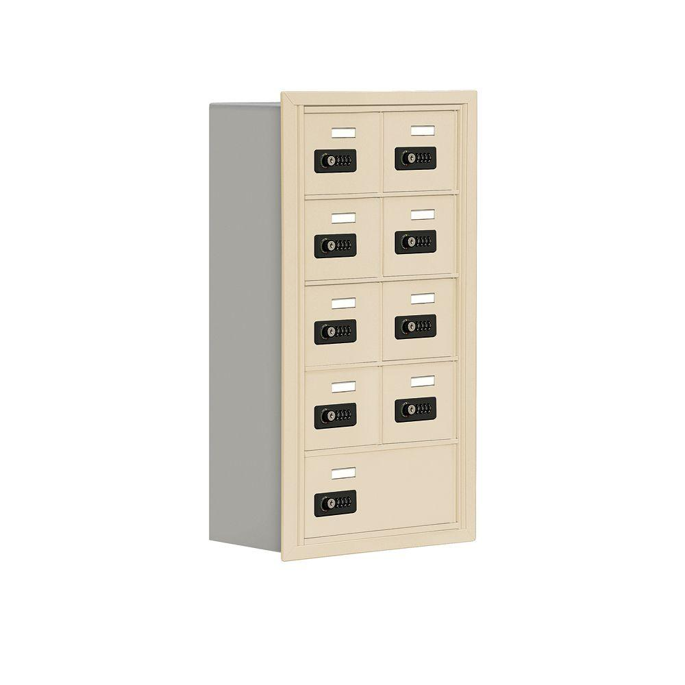Salsbury Industries 19000 Series 17.5 in. W x 31 in. H x 8.75 in. D 8 A / 1 B Doors R-Mount Resettable Locks Cell Phone Locker in Sandstone