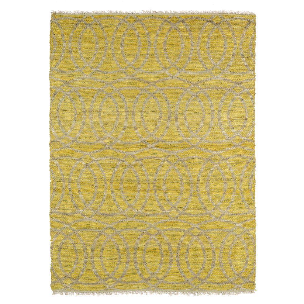 Kaleen Kenwood Yellow 2 ft. x 3 ft. Double Sided Area Rug