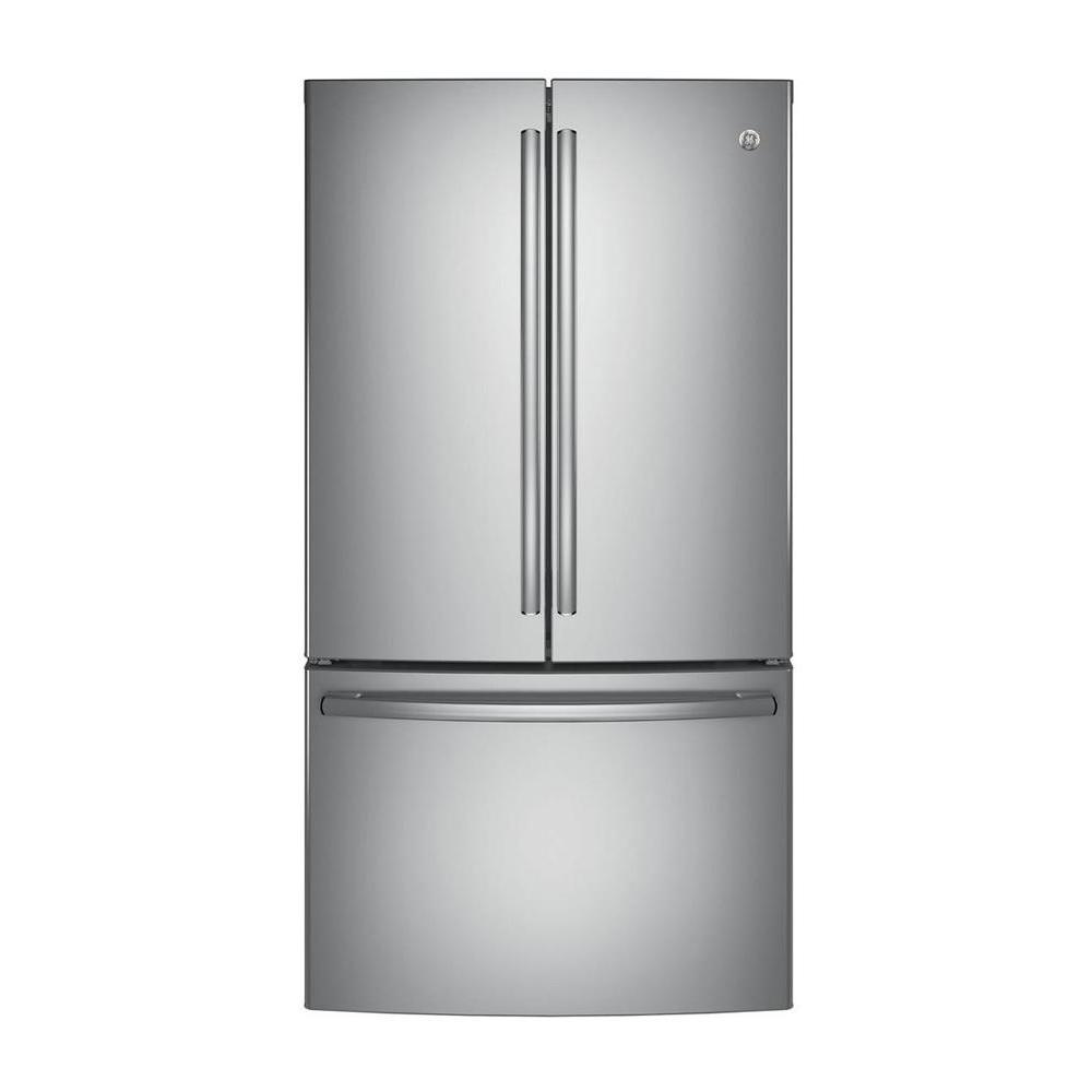 Ordinaire GE 36 In. W 28.5 Cu. Ft. French Door Refrigerator In Stainless Steel