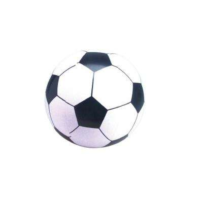 16 in. Black and White 6-Panel Inflatable Beach Soccer Ball