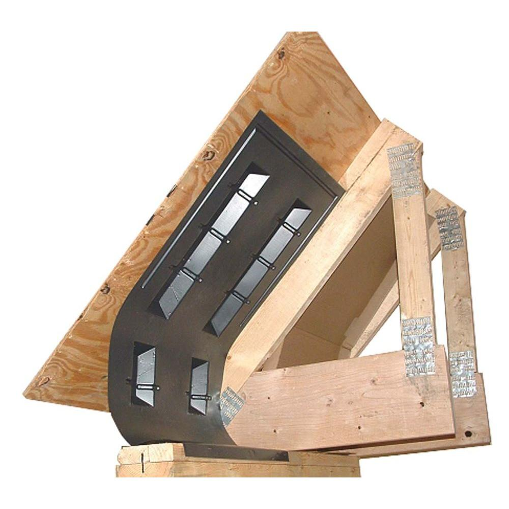 Amerimax Home Products 41 in. x 22 in. Accuvent Vinyl Attic Airway and Soffit Vent in Black