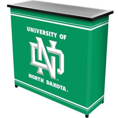 University of North Dakota 2-Shelf Black Bar with Case