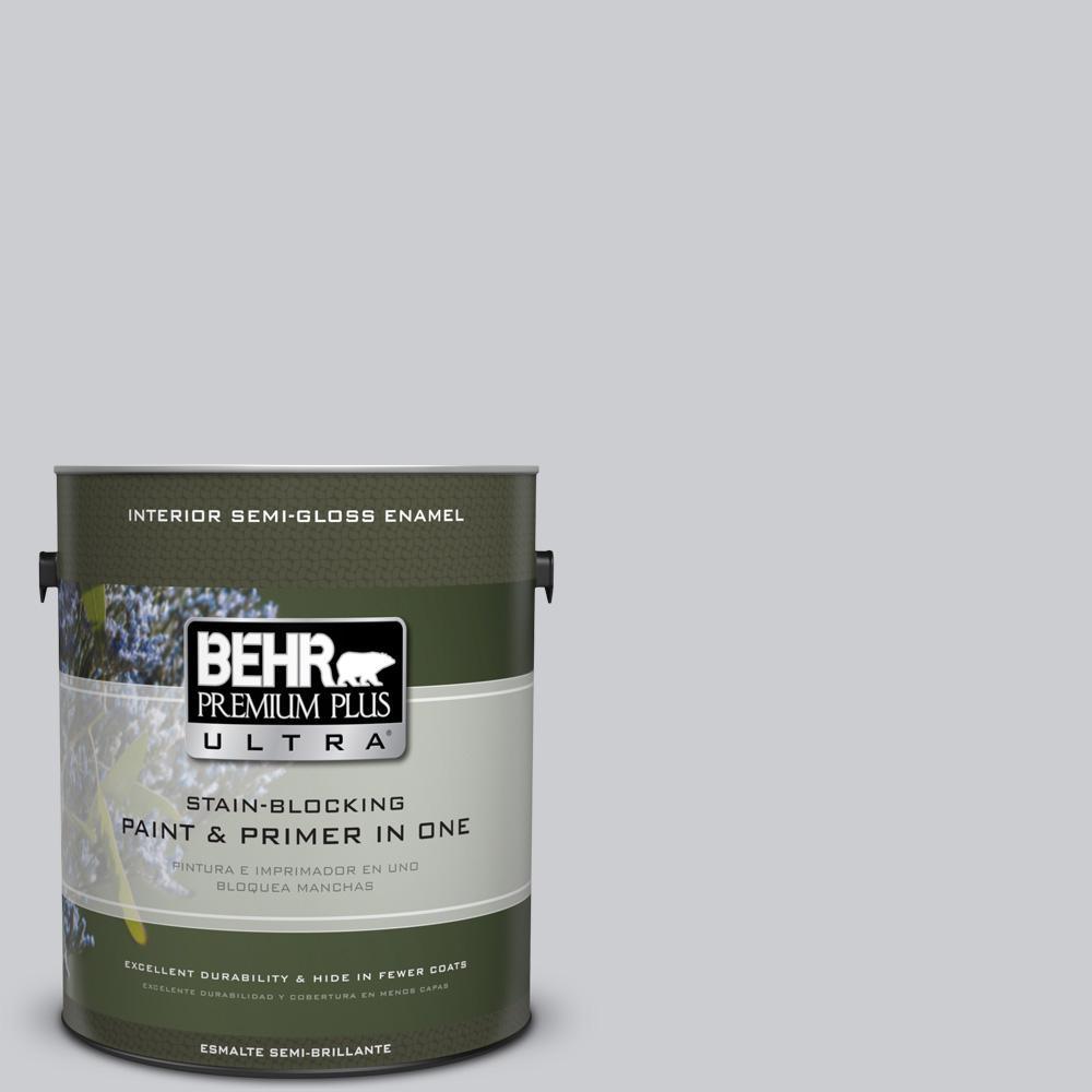 1 gal. #PPU26-16 Hush Semi-Gloss Enamel Interior Paint