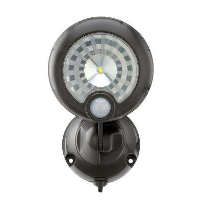 Wireless 120-Degree Bronze Motion Sensing Outdoor Integrated LED Security Spot Light